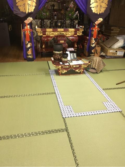 お寺の畳を交換させていただきました